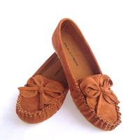 Handmade big yard women flat shoes casual genuine leather women loafers