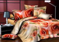 yellow green cream white pink  flowers sunflower  rose Cotton queen size Duvet / Quilt Cover Bedding sets sheet pillowcase
