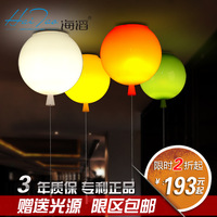 Multicolour child real balloon ceiling light modern brief acrylic restaurant lights bedroom lamp