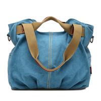 2014 NEW Women Messenger Bags Canvas Handbag Shoulder Bag For Women coffee blue Red Black Kihaki