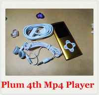 16GB 4th plum cross mp3 mp4 player, music mp4 player with fm radio, games, e-book reader etc 100pcs/lot DHL free shipping