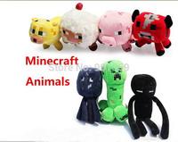 "Minecraft Enderman Creeper Mooshroom sheep squid cow pink doll pig 7"" Baby Pig Piggy plush toy stuffed dolls 7 styles 70pcs/lot"