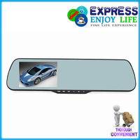 """Supply car camcorder with dual rearview mirror camera car DVRs recorder HD 1080P 4.3"""" screen with Prevent dizziness blue mirror"""