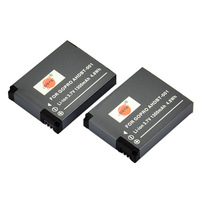 DSTE US Seller 2 Pcs 1300 mAh AHDBT-001 Rechargeable Li-ion Battery For GOPRO HD HERO 1 DSLR Camera