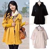 2014 autumn/winter loose women's trench ladies sweet medium-long cotton botton cardigan overcoat plus size M,L SV19 CB031732