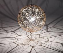 1pcs Tom Dixon Etch Web Pendant light Creative Arts Hanging Lighting Diamond Ball Pendant Lamp Gold/Silver 40cm/60cm Ball Lamp(China (Mainland))