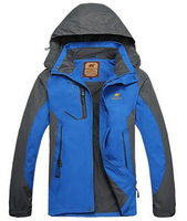 2014 camel new men's hooded cardigan Long sleeve jacket Casual Men coat outdoorcoat men's jackets windbreaker waterproof jacket