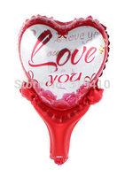 Forever Love Heart stick hand holder bang sticks noise maker (cannot float) Inflation Toys 60pcs