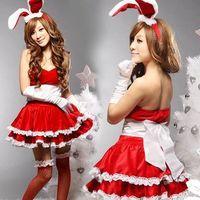 Christmas show Cosplay Costume Sexy Fancy Bunny Rabbit Girl Uniform game uniforms Christmas costumes