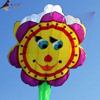 Weifang huge kite sunflower kite smiley 9 meters free shipping