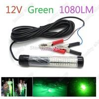 Europe American hot sale 12V LED Green Underwater Fishing Light Lamp 1080 Lumens Fishing Boat Light Night Fishing