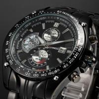 Curren Stainless Steel Band Luxury Sport Analog Quartz Clock Mens Wrist Watch