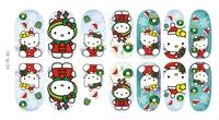 12pcs Mix Color 12 Designs Christmas Nail Art Sticker Nail Decal For Nails Tool/Decoration Wholesale Nail Supplier JH042-12PCS