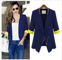 M-4XL 2014 New Hot Fashion Autumn Winter Blazers Women Clothing Casual Coat Plus Size Temperament simple casual coat jacket