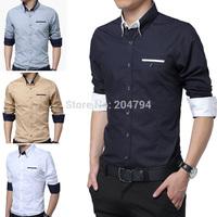 C214 New Fashion Mens Button Luxury Casual Slim Stylish Dress Shirts 6 Size