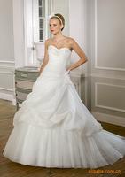 2014 Hot Embroidery Bra Ivory / white princess dress Court Train trailing fashion wedding dress