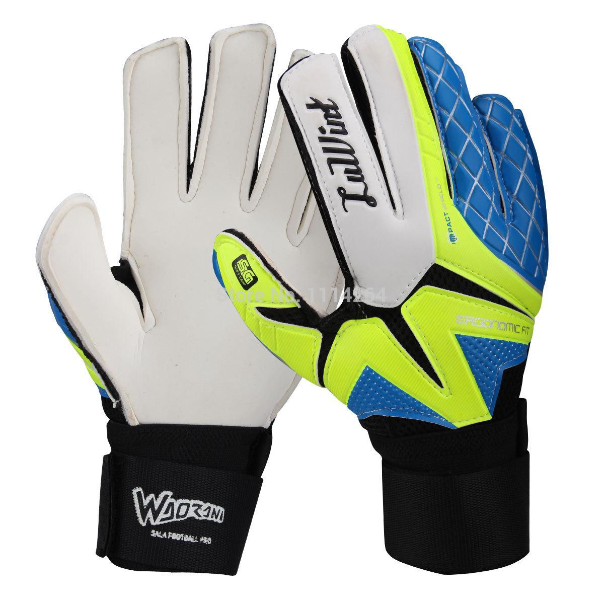 Luwint goalkeeper gloves goalkeeper gloves football gloves slip-resistant breathable Free shipping size 8,9,10(China (Mainland))