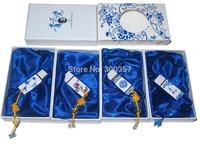 Blue and white porcelain usb flash drive ceramic usb flash drive 8g capacity gift usb flash drive