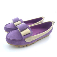 Full genuine leather female shoes color matching women flats casual flat shoes