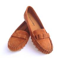 big yards 41 42 43 genuine leather flexible rubble casual women flats female shoes flat heel
