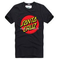 Euro Size OEM Skateboard Skate Santa Cruz T Shirt Men Loose Cotton Man Shirts Camiseta Mens Tee Clothing Free Shippinng