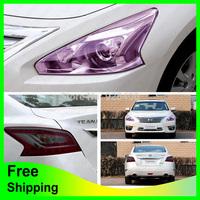Free Shipping Car Light Film 0.3*1m Car Decoration Sticker for Fog Light Head Light Tail Light Tint Vinyl Film Sheet 12 Colors