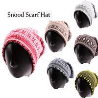 Casual Unisex DIY Hat Winter Snow Wave Stripe Neck Warmer Ski Wear Scarf Football Snood Women Men Beanies Cap
