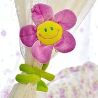 Colorful 62cm Flower Curtain buckle  tie back curtain belt hooks drapery clips curtain tieback accessory home decoratio 4pcs/lot