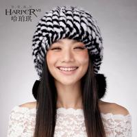 Mink hair lobbing fur hat ear protector cap winter hat female women's hat