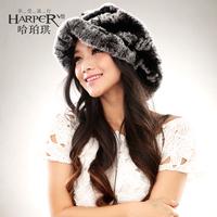 Fur hat elegant beret female winter cap casual rex rabbit hair hat 2014