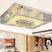 Living room lights led ceiling light rectangle crystal lamp modern brief bedroom lights restaurant lamp pendant light
