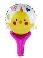 Happy Easter Chick hand holder bang sticks noise maker (cannot float) Inflation Toys 60pcs