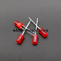 Free shipping 1000pcs 5MM Red LED light emitting diode F5mm Red LED Round