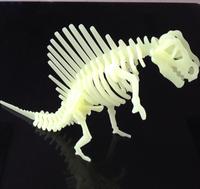 Dinosaur Jigsaw Children's educational toys 1 set Fluorescence Free shipping Glowing Buliding Block Dinosaur