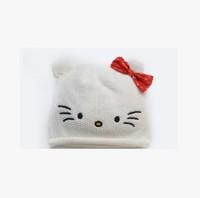 Children turtleneck cap cat baby animal model cap out hat