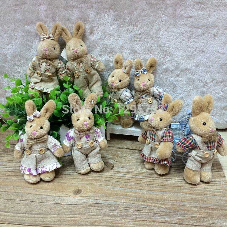 40piece/lot H-10cm good quality lovely mini plush rabbit toy,mini plush bunny toys For bag decoration, bouquet Free Shipping(China (Mainland))