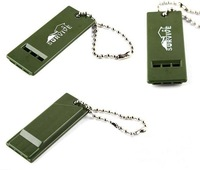 Emergency Survival Whistle 3 Frequencies whistle Camping Tool Olive Green free shipping