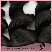 "Natural Cabelo Humano Hair Weft 14"" - 30"", Loose Wave, 100grams/ Piece, Natural Color Pelo Humano Hair Weaving, Free Shipping"
