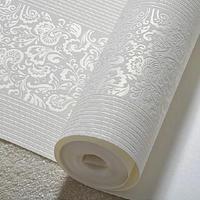 Modern fashion Non-woven wallpaper bedroom living room flocking wallpaper thick vertical stripes wallpaper