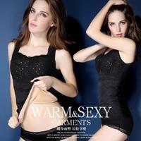 2014 fashion warm thermal underwear warm vest body shaper  women sex body building cloth factory wholsale