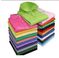 2014 New Arrival Men&Women Loose Short Sleeve POLO Shirt Turn down Collar Casual POLO Shirt Multi-Colors Size M-XXXL,men shirt.