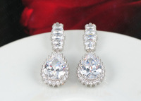 2014 new Korean fashion diamond alloy color retention wedding gift to commemorate a couple drops earrings CER0010-B