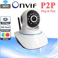 Onvif 720P Wifi Wireless HD IP Camera 1.0 Megapixel H.264 P2P Support 64G TF Card Pan & Tilt IP/Network IP Cam