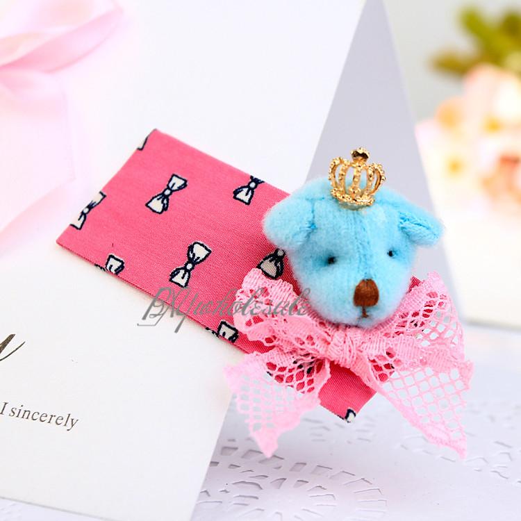Cute!!! High Quality Baby Girls Tiaras Kids Accessories Crown Bears Hair Clips Children Hair Accessories Summer Free Shipping(China (Mainland))