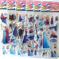 Free Shipping Mix 6kinds 2000 Sheets puffy FROZEN sticker(7.5*21cm) Sticker /Children Fashion Decoration Stickers