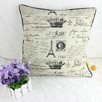 Eiffel Tower cotton pillow cushion 2014 Mediterranean home or car  pillowcase stylish and comfortable Sofa cushion X152