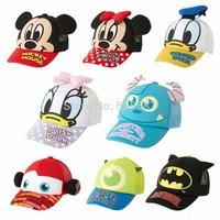 1 pcs Retail 2014 New Fashion Mickey Minnie Kids Baseball Cap Children Snapback Caps Donald Duck Character Boys Girls Hats 1347