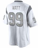 Free Shipping Wholesale Houston JJ Watt White Platinum Limited Jersey Men's #99 Watt Football Jerseys on sale