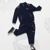 2014  New  Wholesale  Brand  fashion  spring/autumn  children's  suit  coat+pants  long  sleeve  zipper  turtleneck  boy's  suit