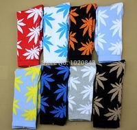 35 Colors Plantlife Cannabis Marijuana Style Weed Socks Men's Skateboard Cotton Calcetines Sport 2pcs=1pair opp bag packing